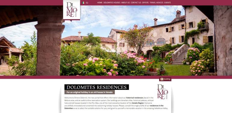 dimore-dolomiti-website
